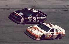 2 of my favorite NASCAR drivers ever. Dale Earnhardt and Alan Kulwicki 1992.