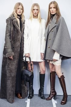 The season's Chloé girl is a gentlewoman, her nonchalant spirit evoking the essence of the outdoors - Chloé Fall 2015