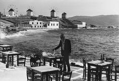 Stanley Bielecki, καλοκαίρι 1978, Μύκονος, ο ηθοποιός Anthony Quinn Mykonos Island, Mykonos Greece, Athens Greece, Old Time Photos, Old Pictures, Zorba The Greek, The Italian Job, Anthony Quinn, Creta