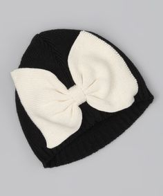 Love this Black Bow Beanie by Born to Love on #zulily! #zulilyfinds