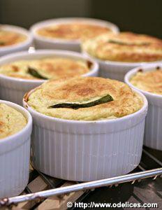 Soufflés aux asperges et parmesan - Recettes de cuisine Ôdélices