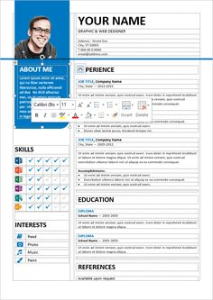 Curriculo prontos Well-organized, table-formatted and fully editable free resume template for Word