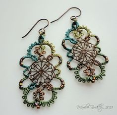 Yarnplayer's Tatting Blog: Filigree earrings