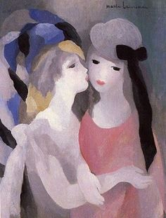 """Marie Laurencin """"The Kiss"""", 1927 (France, Expressionism, 20th cent.)"""