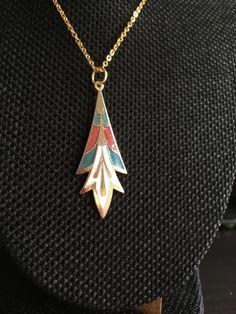 Cloisonne Pendant, cloisonne pendants,  Art Deco Necklace, Vintage cloisonne, art deco necklace, cloisonne pendants, necklaces art deco,N128 by DuckCedar on Etsy
