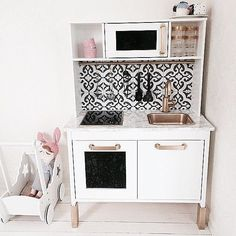 Painting a kids IKEA kitchen to look better than your own kitchen Pic from…