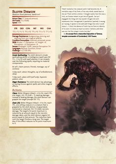 dnd-5e-homebrew: Dragon Age Demons Part 3 by Emmetation