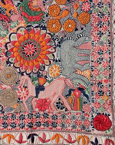 Detail of kantha from Faridpur District, current day Bangladesh, second half of the 19th-century