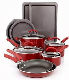 Attrayant Red KitchenAid 14 Piece Cookware Set ONLY $74.99 At Macyu0027s (Reg $230