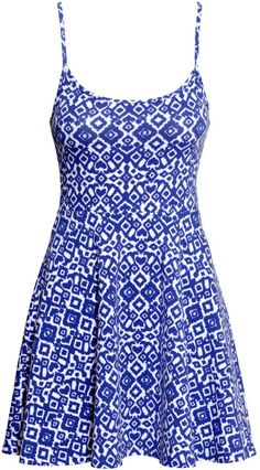 H&M - Jersey Dress - Blue/White patterned - Ladies $9.95-BeautyNoBrainer's #Guide To Building Your #Summer #Wardrobe On A #Budget