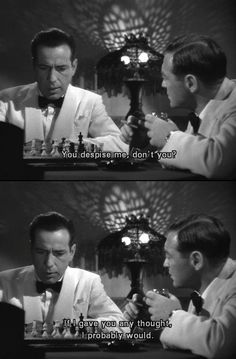 Casablanca. My all-time favourite and a classic. One of numerous lines that will go down in cinematic history.