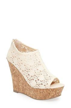 Crochet crush! Love the Madden Girl wedge sandal.