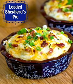 Shepherd's Pie.  Will give this recipe a try.  May change to ground turkey.  I'll keep you posted.