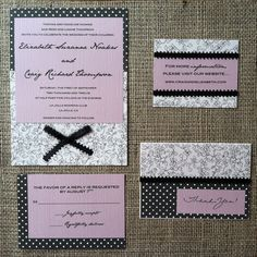 Handmade wedding invitation suite!