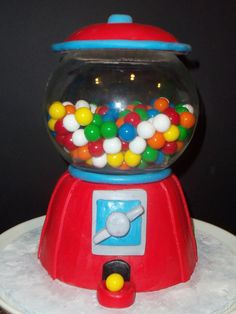 Cool Cake with gumballs