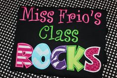 Teachers Rock adult school tshirt School rocks by stephstowell, $25.00