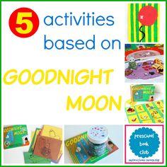 5 Goodnight Moon Inspired Activities from the Preschool Book Club #preschoolbookclub