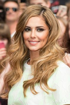 cheryl cole // 2014 gorgeous waves and caramel highlights