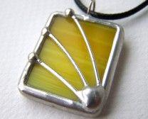 Lemon Spritzer - Stained Glass Pendant