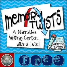 "FREEBIE: Memory Twists {A ""Keep It Fresh! Writing Center""}"