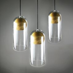 Modern Wood Glass Ceiling Lamp  glass   pendant lamp by industlamp, $118.00