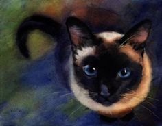6. This is an example of foreshortening because it has the illusion that you are looking down at the cat, and you can't see the whole form of the cat, causing it to look shorter.
