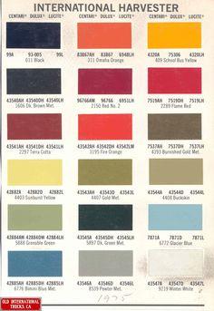 1975 International Harvester Truck Colors.