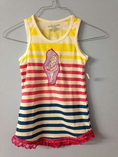 Girls Ballerina in Tutu Tank Top Shirt - Size 6 / 6X #BobbieBrooks