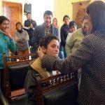 Lucía Corpacci recibió la visita de alumnos de Laguna Blanca