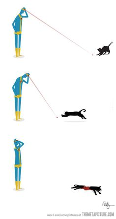 Cyclops's Cat (even tho his is solar power and not laser powered--IT'S STILL LULZ GUYS)