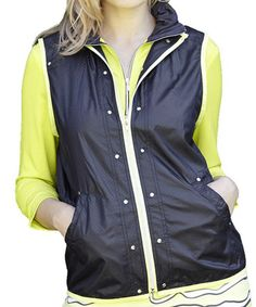 This Slate & Citron Color Block Elite Jacket by GGblue is perfect! #zulilyfinds