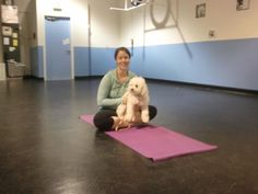 I love Yoga so much, I even do it with my dogi Quincy.