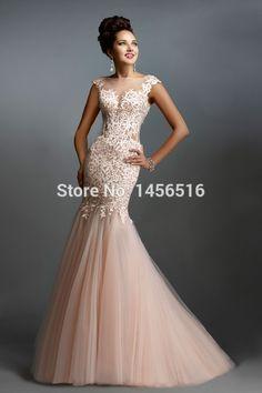 Sexy Lace Long Elegant Mermaid Prom Dresses 2015 Evening Dress for Prom festa vestidos de para festa formatura longo-in Prom Dresses from Weddings & Events on Aliexpress.com | Alibaba Group