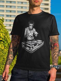 Bruce Lee DJ Dragon Gung Fu Tony Stark Robert Downey T-Shirt