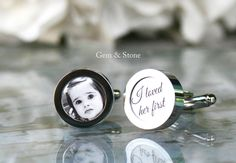 These special Customized Photo Cufflinks are a perfect gift to give your Father on your Wedding Day!