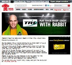 Win A Play Touch To Rugby League With Rabbits
