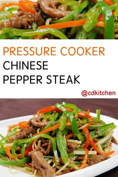 Made with boneless beef chuck, celery, onions, oil, garlic, salt, black pepper, beef broth, red or green bell peppers, water, cornstarch, soy sauce, hot rice | CDKitchen.com