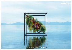 Another stunning work by Azuma Makoto Azuma Makoto, Bio Art, Flower Artists, Flower Installation, Jacquemus, Found Object Art, Nature Plants, Arte Floral, Outdoor Art