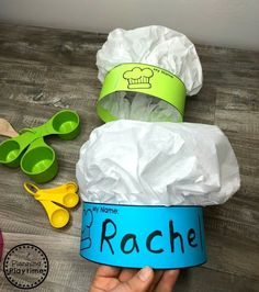 Preschool Cooking Theme - Planning Playtime - Recipes For Kids Chef Hats For Kids, Kids Hats, Halloween Theme Preschool, Preschool Crafts, Halloween Activities, Bakery Crafts, Community Helpers Preschool, Cooking Photography, Cooking With Kids