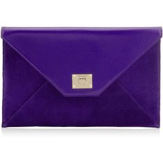 Jimmy Choo ROSETTA Violet Smooth Leather and Suede Clutch Bag (19.350 RUB) ❤ liked on Polyvore featuring bags, handbags, clutches, purses, violet, jimmy choo purses, purple handbags, jimmy choo, envelope clutch and suede leather handbags