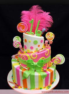Colorful sweet 16 cake :)