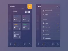 It's my new vision of an app which allows you to analyze monthly utility consumption.