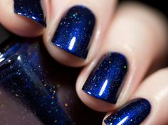 Looking Up Midnight Blue Holographic Nail Polish by ilnpbrand