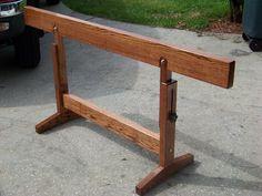 Adjustable Sawhorse - by Lori @ LumberJocks.com ~ woodworking community