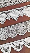 Vintage Crochet Pattern Instructions for 5 Pretty Lace Trimmings/Shelf Edges