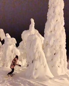 Night boarding through winter wonderland in Finland ? Snowboards, Lapland Finland, Destination Voyage, Arctic Circle, Cross Country Skiing, Land Scape, Winter Wonderland, Adventure Travel, Travel Photos