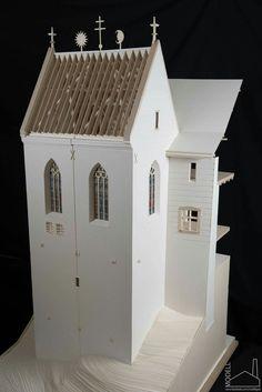 Castle of Füzér section model Scale: 3d Modelle, Arch Model, Hungary, Castle, Outdoor Structures, Architecture, Scene, Submission, Arquitetura