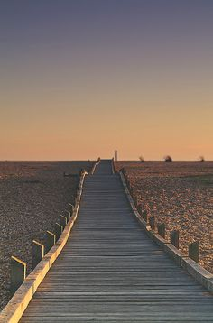 Boardwalk, sunset in Dungeness, England | jennifer picard photography ~ creative boutique photography