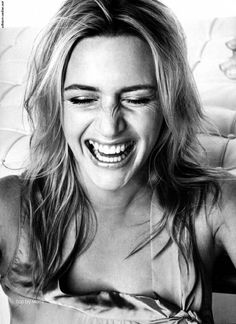 What a pretty laugh. Kate Winslet.