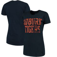Auburn Tigers Fanatics Branded Women's Straight Out Slim Fit Short Sleeve T-Shirt - Navy